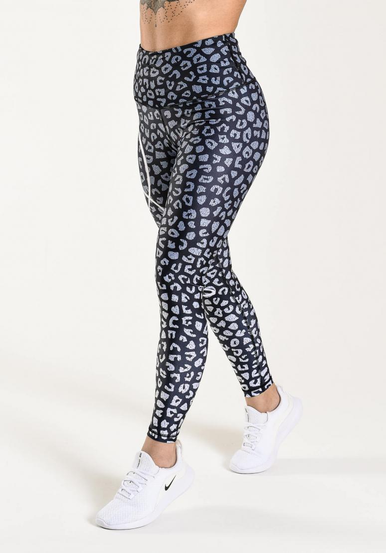 Leopardess Tights - Black