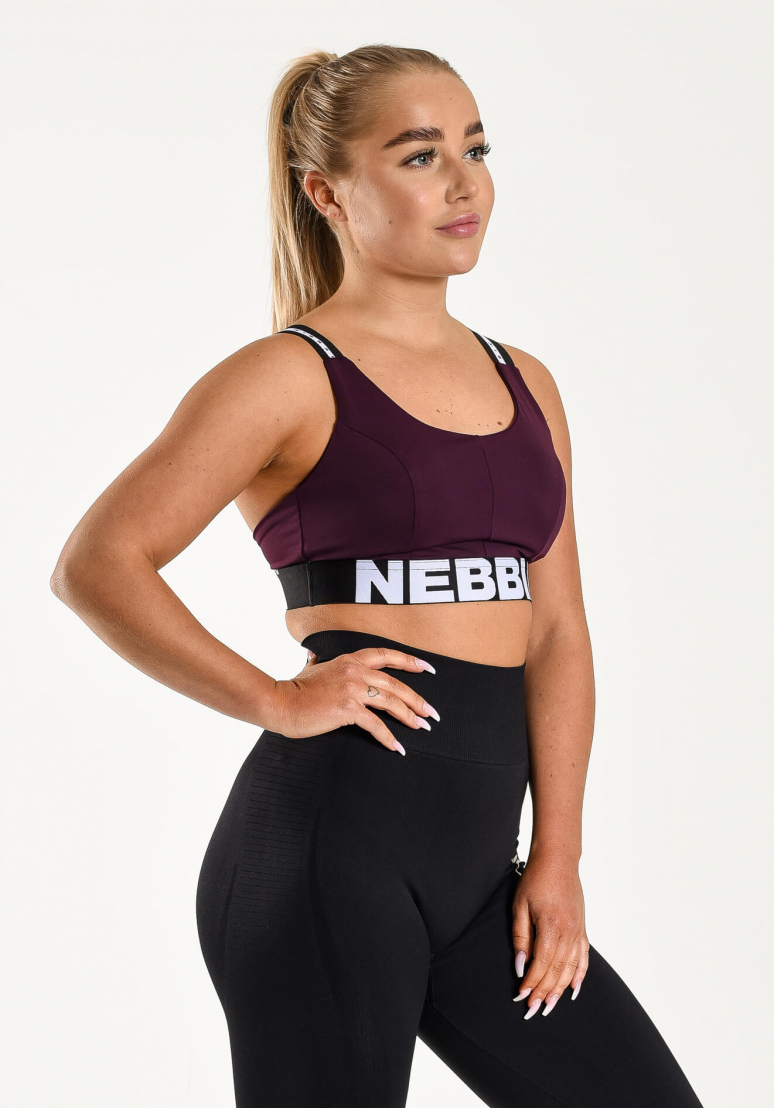 Airy Straps Sports Bra - Wine