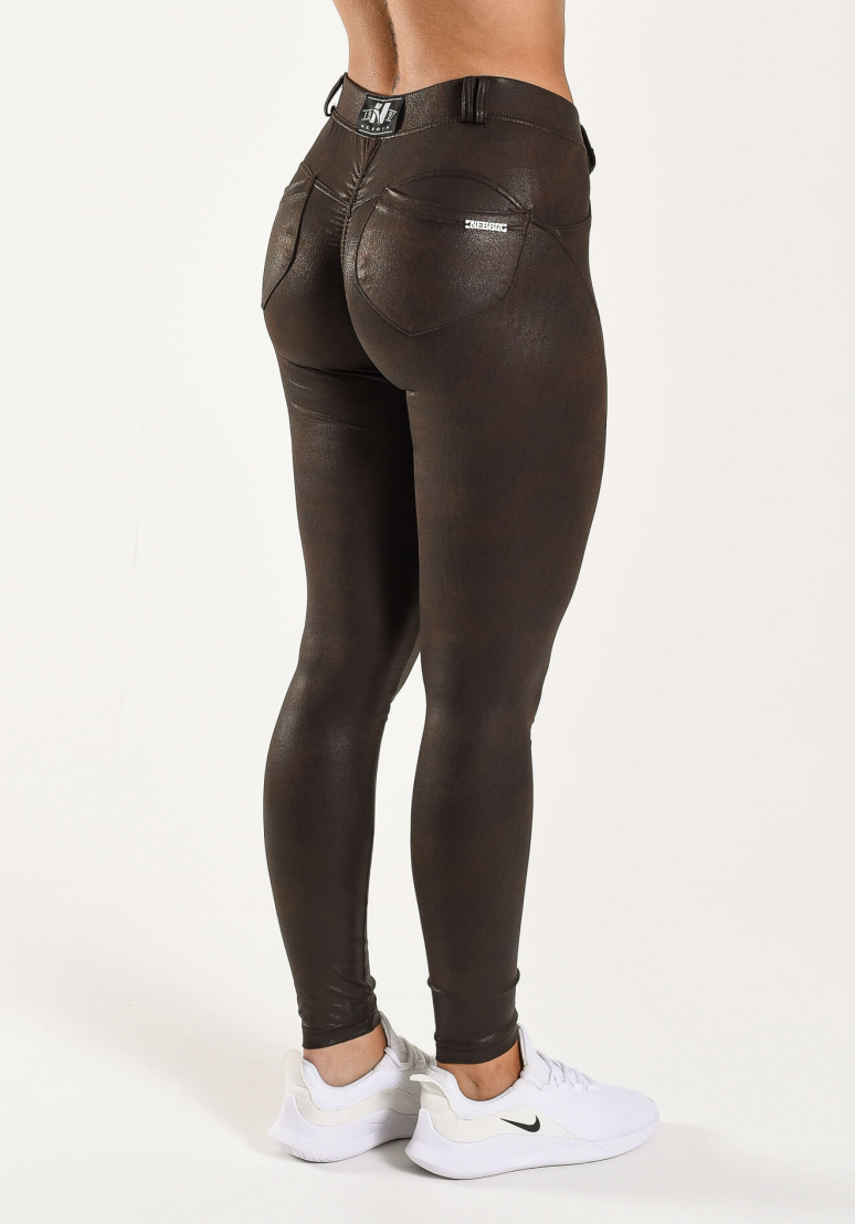 Bubble Butt Faux Leather Pants