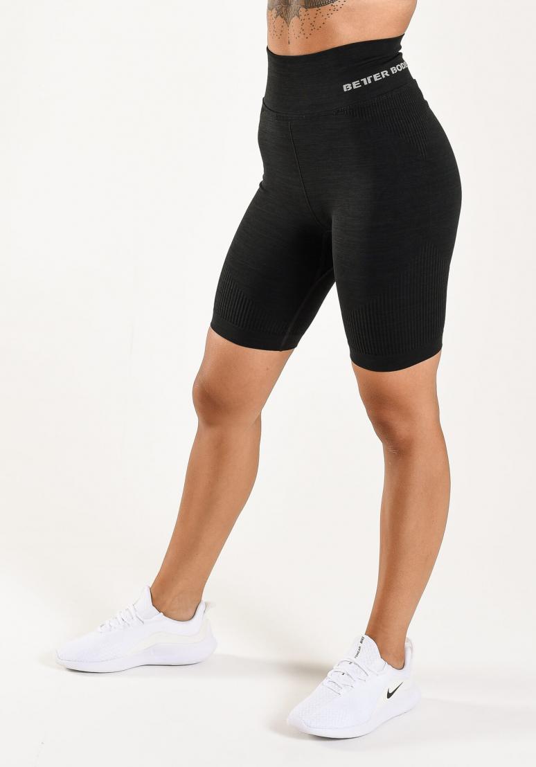 Rib Seamless Shorts - Black...