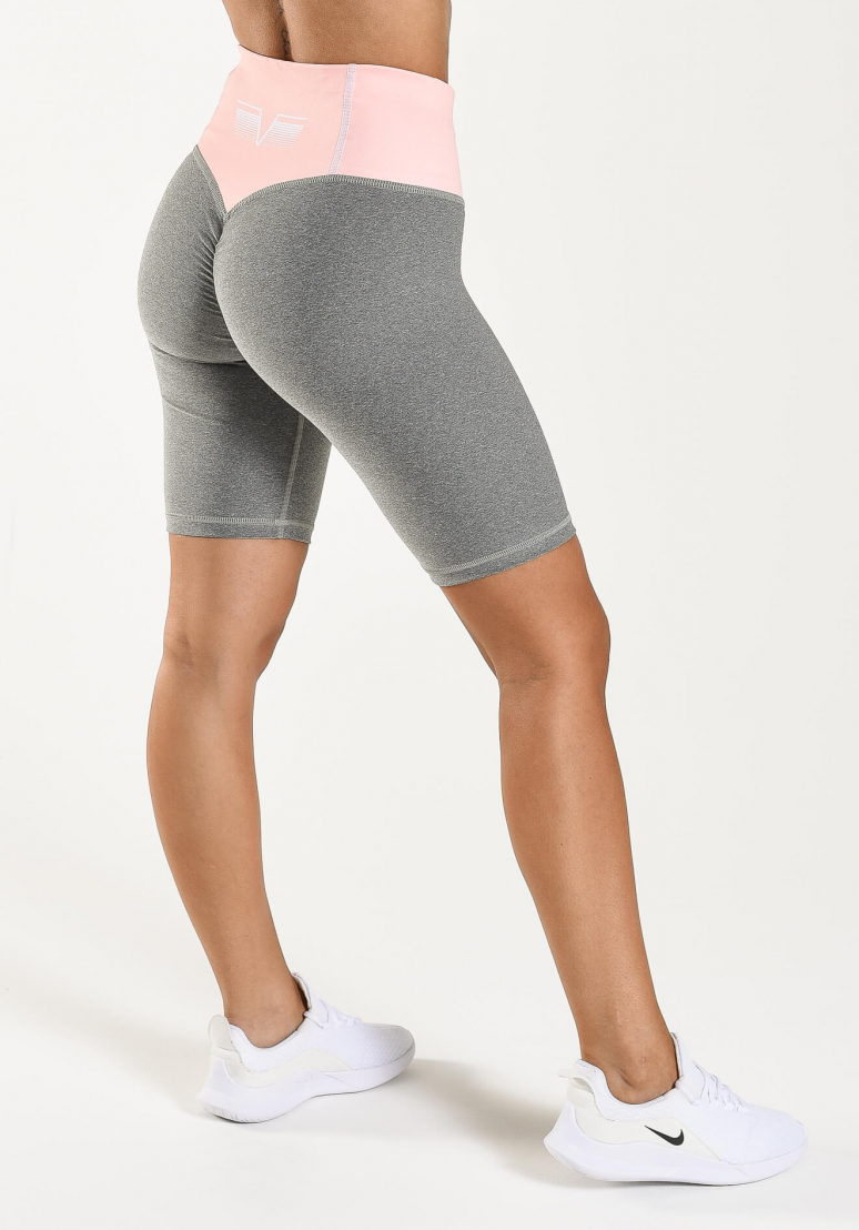 Swirl Bicycle Shorts - Peach