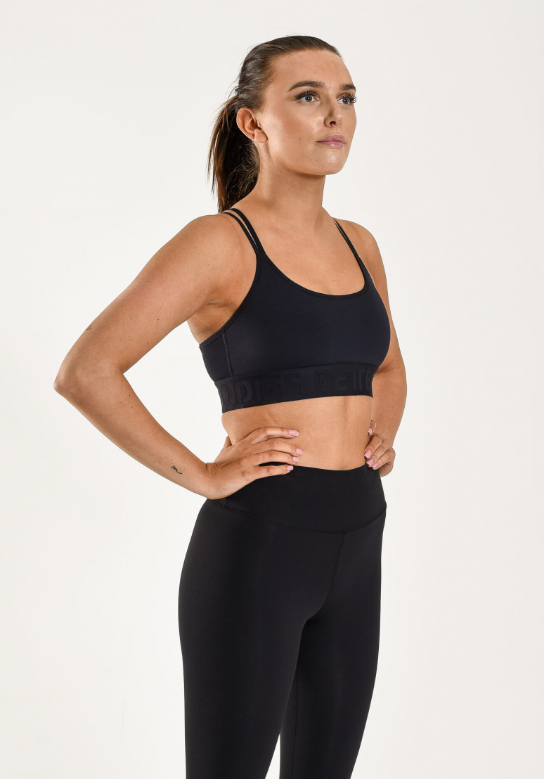 Gym Sports Bra - Black
