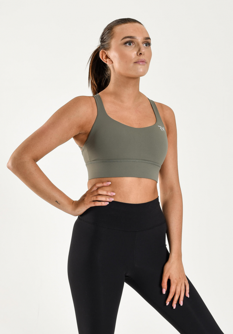 High Impact Sports Bra - Khaki