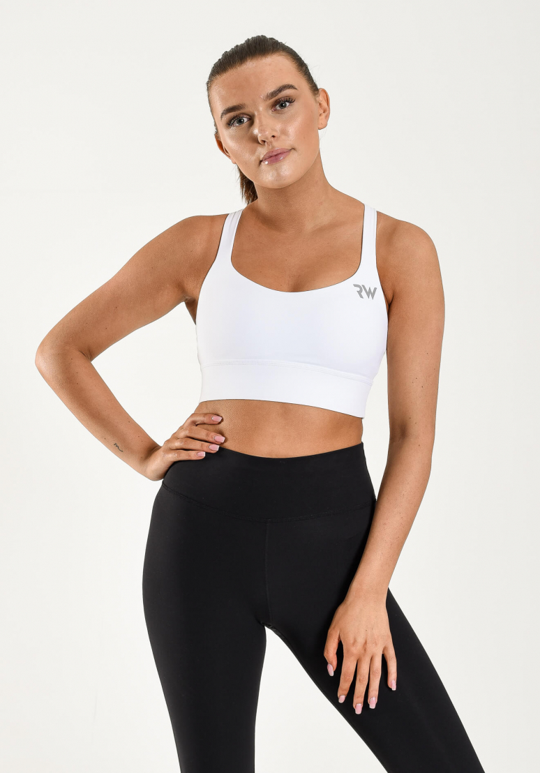 High Impact Sports Bra - White