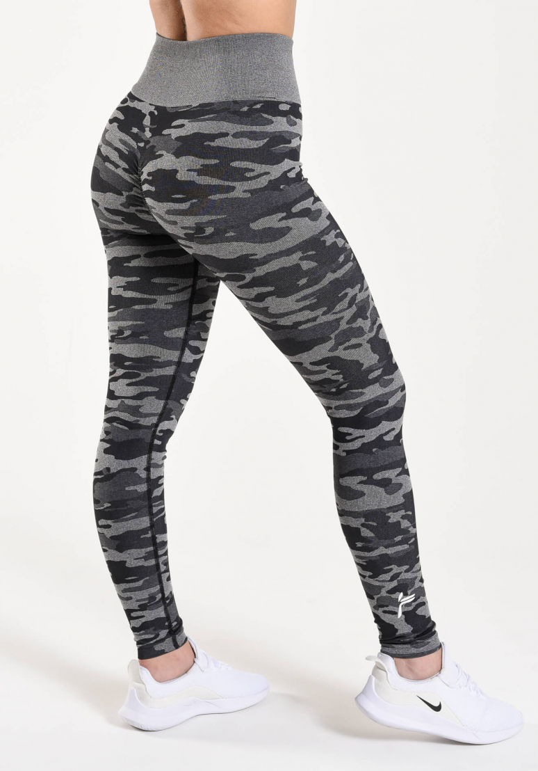 Camo Seamless Scrunch Tights