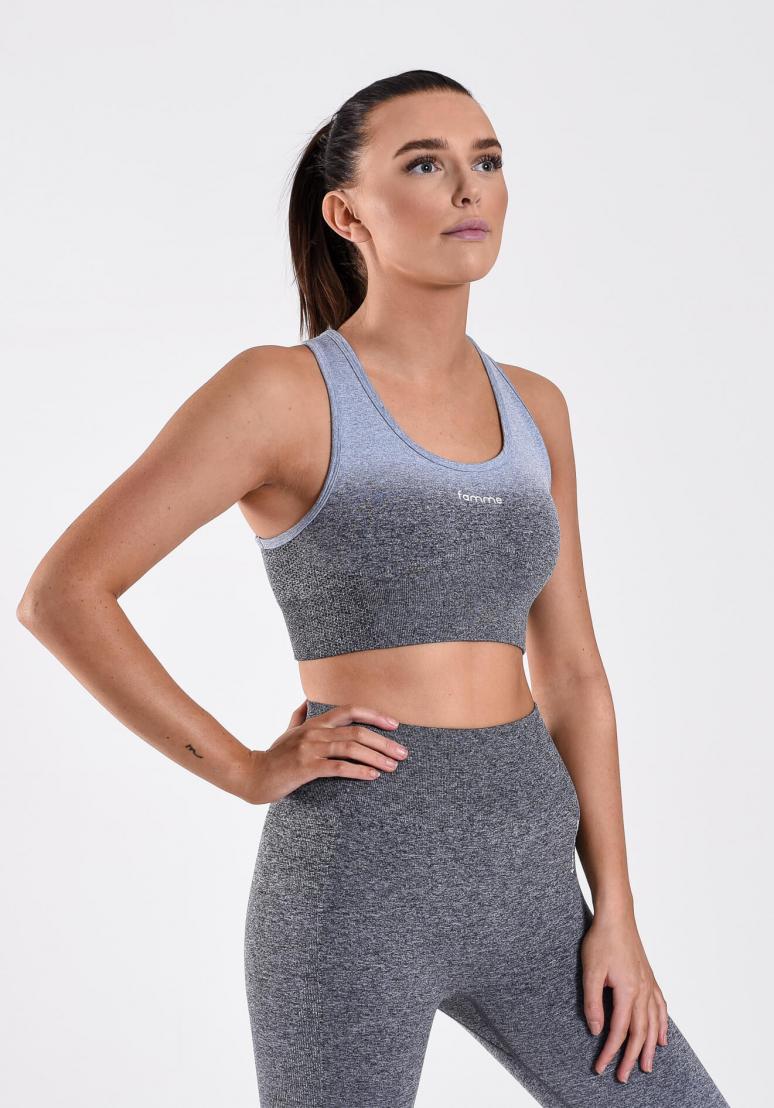 Famme Ombre Sports Bra - Grey
