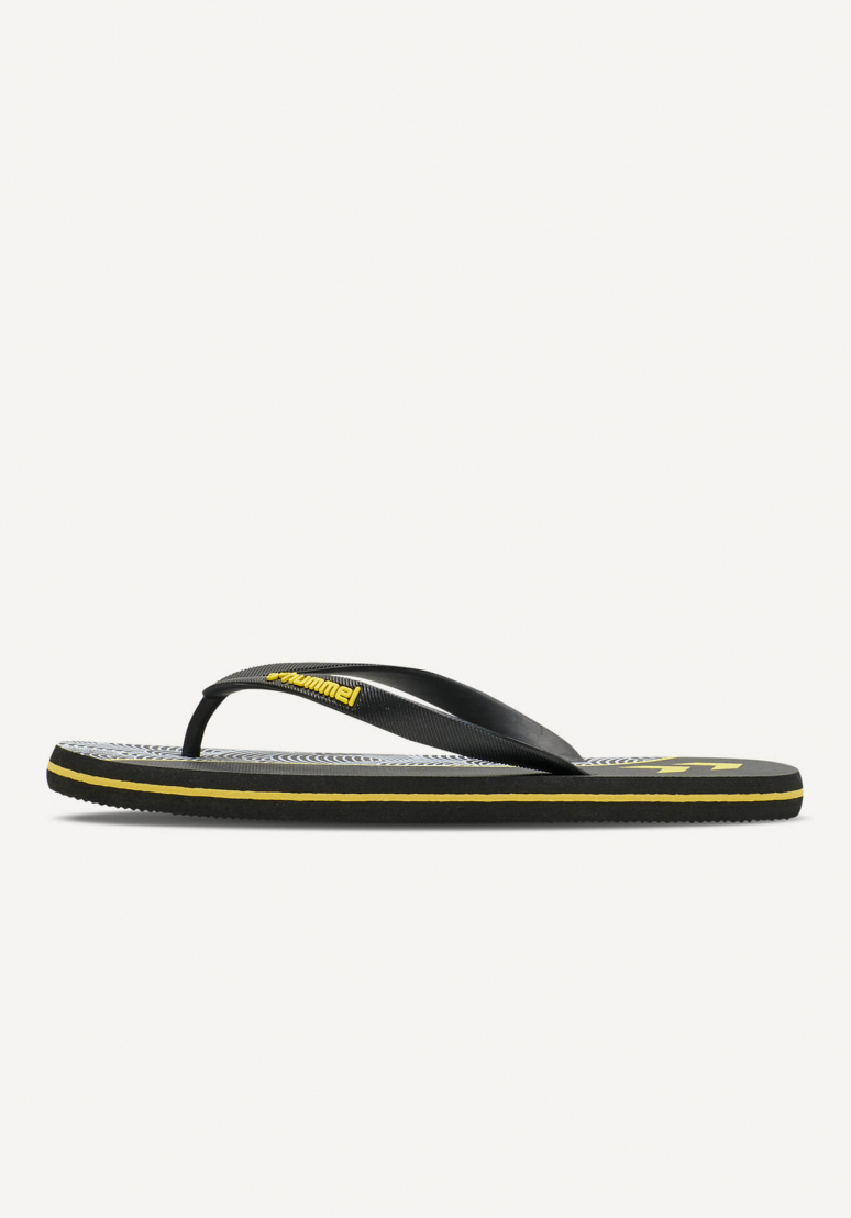 Wave Block Flip Flop - Black
