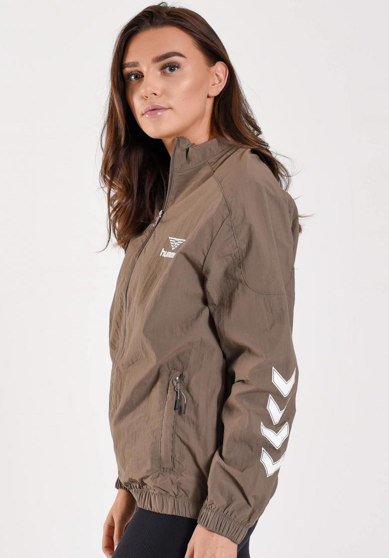 Nikki Loose Zip Jacket - Khaki