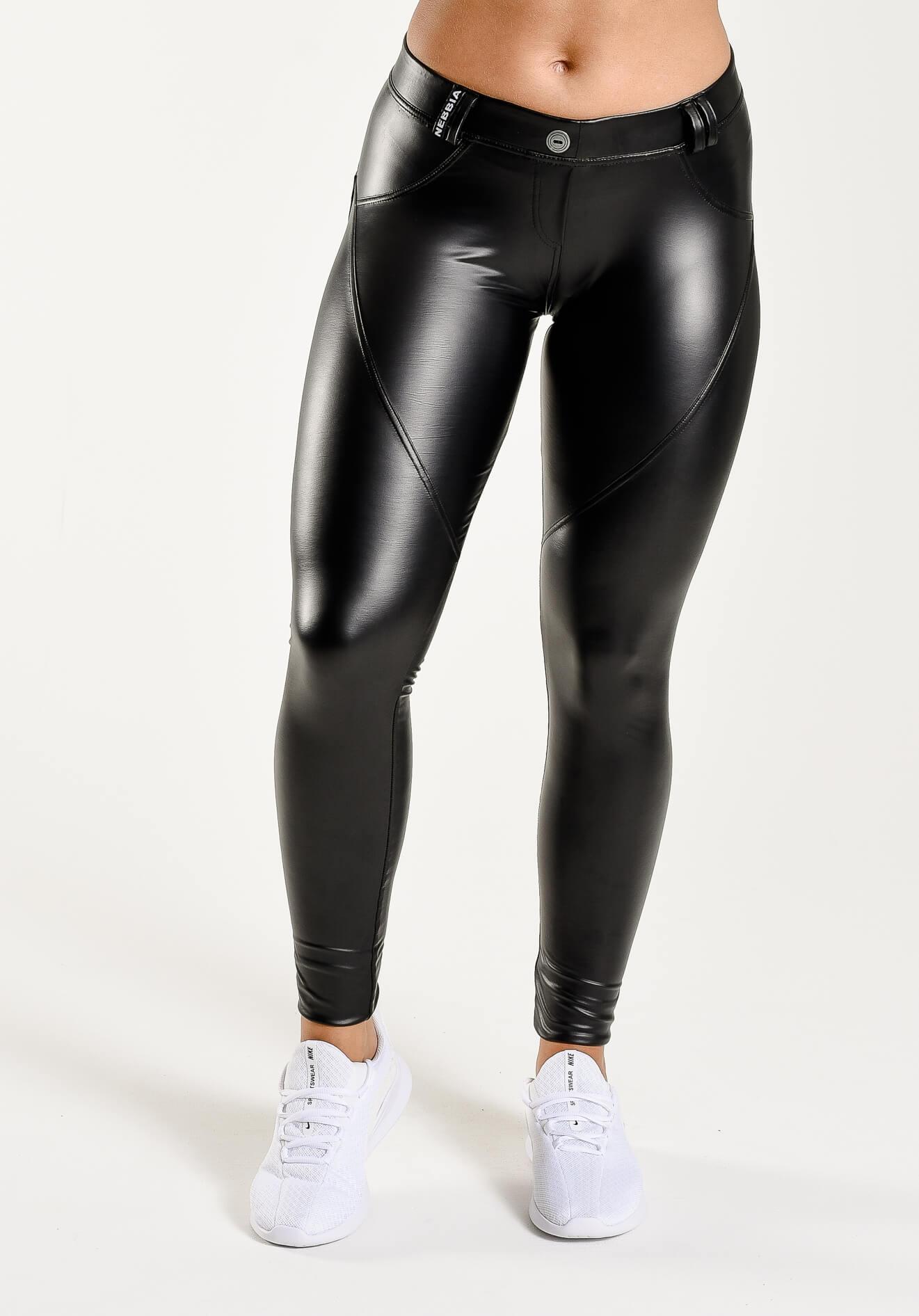 Nebbia Bubble Butt Faux Leather Pants Onemorerep.fi