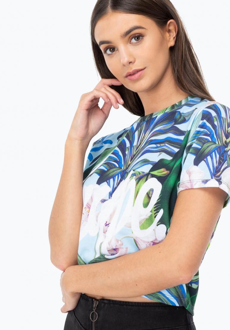HYPE Crop T-shirt Tropics Script